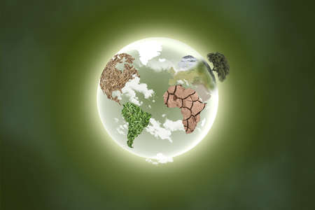 illustration of a planet with continents Stock Illustration - 8253809