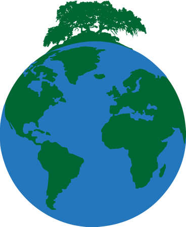 illustration of a ecological footprint of mankind on the planet Vector