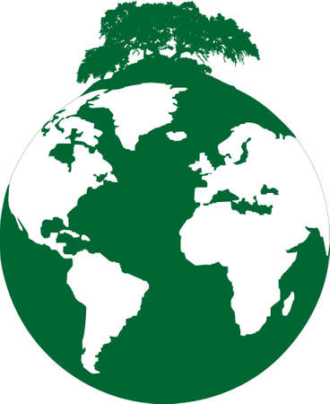mankind: illustration of a ecological footprint of mankind on the planet