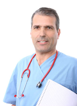 doctor holding a notepad with lines Stock Photo - 8541329