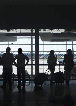 people waiting in the airport Stock Photo - 9680190