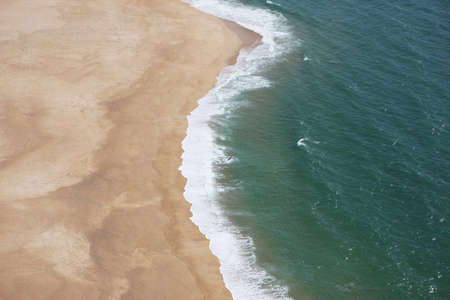 nazare coastline - view from the mountain