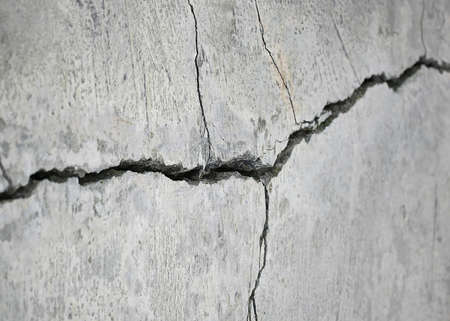 earthquake crack: detail of a stone crack