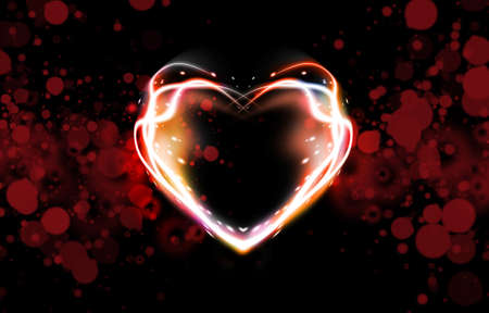 heart heat: abstract background of color heart  Stock Photo