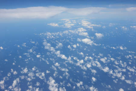 photo of clouds taken from an airplane