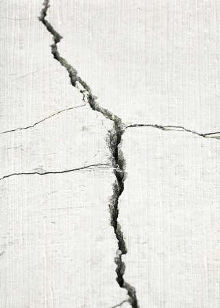 earthquake crack: detail of a stone crack