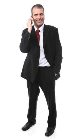 handsome businessman calling on mobile phone Standard-Bild