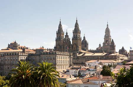 Catedral in Santiago de Compostela  Spain  Archivio Fotografico