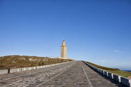 galicia: Hercules tower, La Coru Galicia, Spain Stock Photo