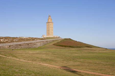 Hercules tower, La Coru Galicia, Spain Standard-Bild