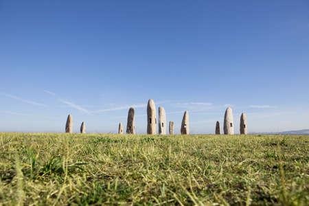 Menhirs Park at coruna, Galicia, Spain