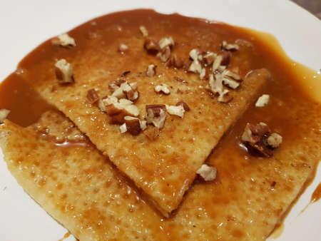 Milk cajeta crepes with walnut