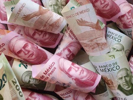 banconote messicane di diverse denominazioni non organizzate