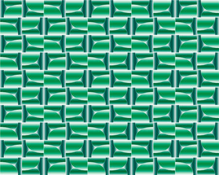 geometric pattern illustration for decoration in gradient green color, background and texture