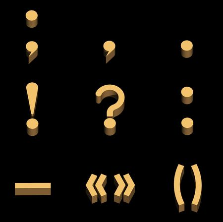 interrogative: Signs on a punctuation are shown on the image.