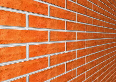 Brick wall is shown in the picture. photo