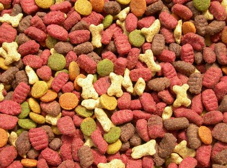 Colorful food for cats is shown in the picture         photo