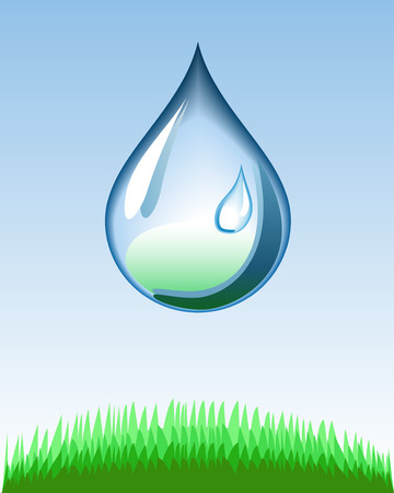 Water drop is shown in the picture Stock Vector - 8574882