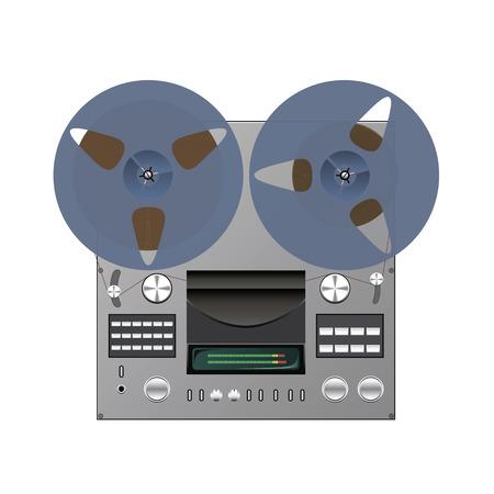 magnetofon: Rolce magnetofonu jest pokazany w obrazie. Ilustracja