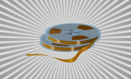 magnetization: Reels with the tape are shown on the image Illustration