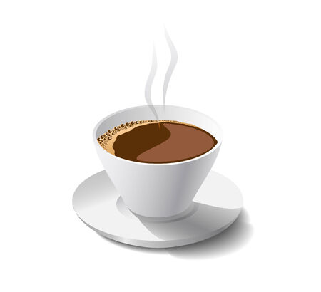 Morning cup of fragrant coffee is shown in the picture.