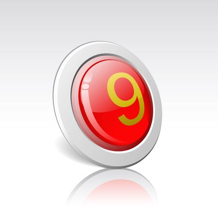 decimal: Button with the number