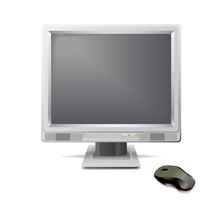iluminacion led: Rat�n y monitor gris aparecen en la imagen.