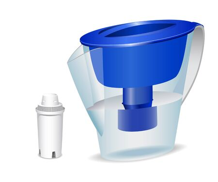 water filter: Water filter and filter cartridge are shown on the image.