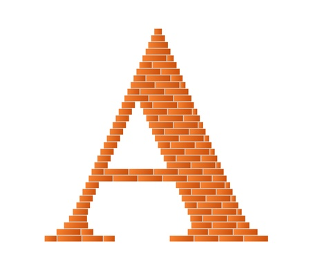 The letter A is shown in the picture.  Vector