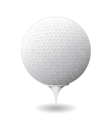 Golf ball is shown in the image
