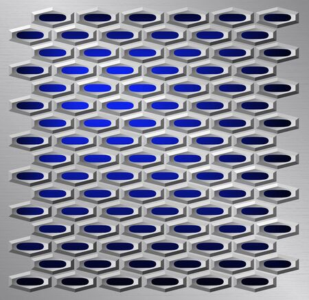 grating: Steel grating is shown in the picture.