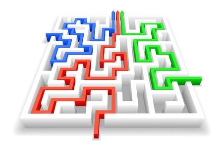 Passage du labyrinthe est montré dans l'image.
