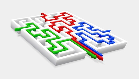 Passage of the maze is shown in the image.