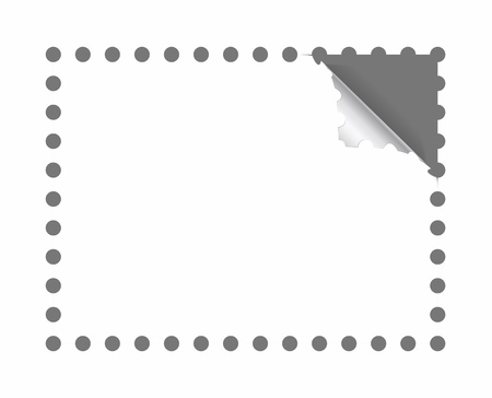 perforation: Postage stamp perforation is shown in the picture. Illustration