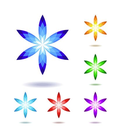Abstract shapes as the logo are shown in the image. Illustration
