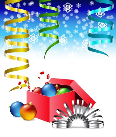 Christmas box is shown in the image. Stock Vector - 11270721