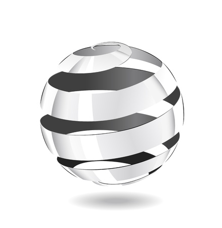 A ball of steel strip is shown in the image. Stock Vector - 11270722