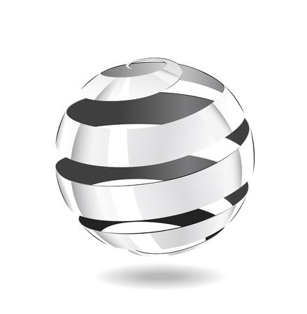 spirale: Eine Kugel von Stahlband ist in der Abbildung dargestellt.