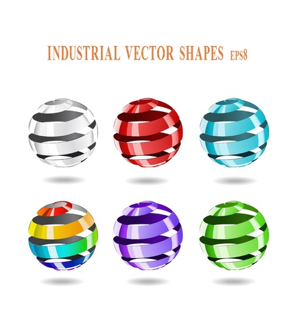 Multi-colored balls of steel strip are shown in the image.