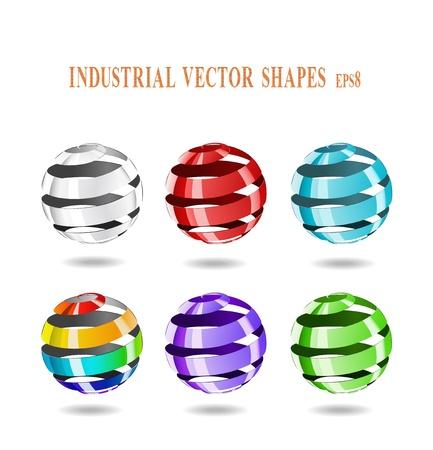 Multi-farbigen Kugeln von Bandstahl sind in der Abbildung dargestellt. Standard-Bild - 11451149