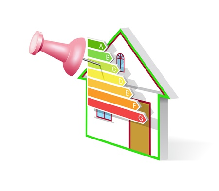 Classes and energy efficient house shown in the image. Stock Vector - 11451180