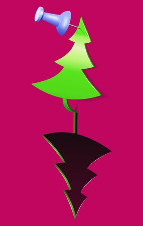 Sticker as christmas tree is shown in the image. Stock Vector - 11830112