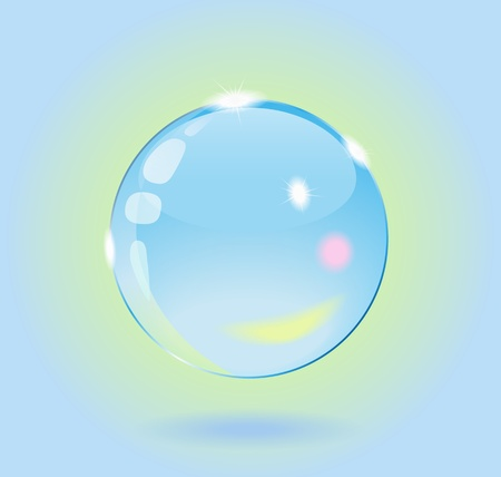 Glass ball is an abstract background. Stock Vector - 11842175