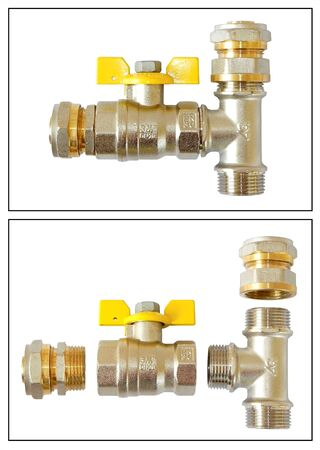 Plumbing is shown in the picture  photo