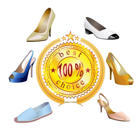 heel strap: Shoes of different styles are shown in the picture