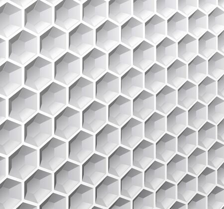deepening: Abstract background of monochrome hexagons is shown in the image  Illustration
