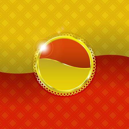 Shiny label is on background Stock Vector - 14874612