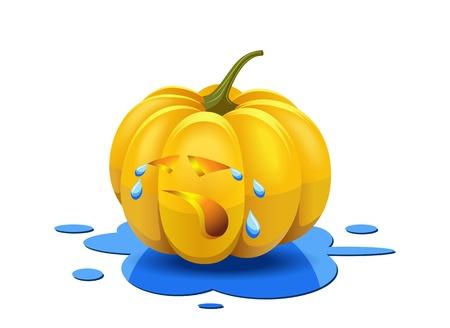Weeping pumpkin is shown in the image Stock Vector - 15924148
