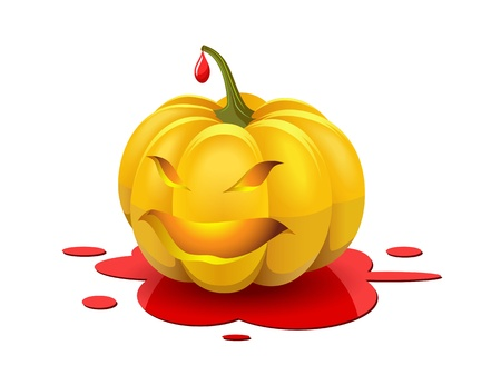 Angry pumpkin is shown in the image  Vector