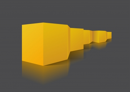 folding screens: Orange folding screen is on a gray background  Illustration